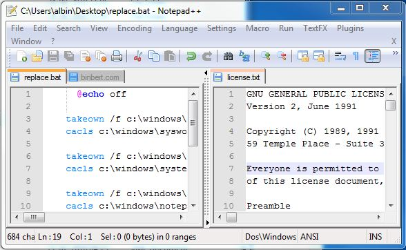 how to download notepad for windows 7