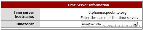 pfsense configure time server