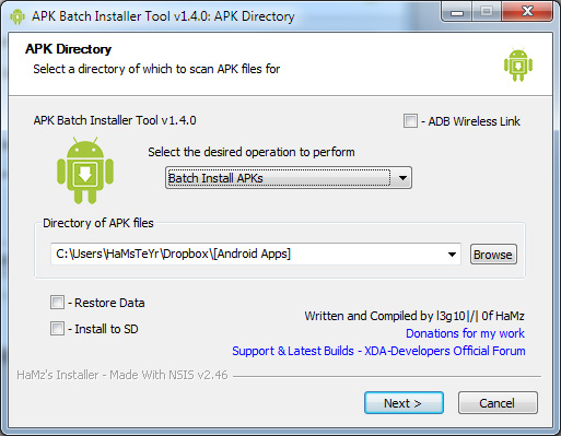 Backup your android applications and data using a computer