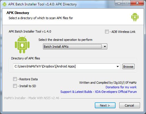 android apk bulk backup restore